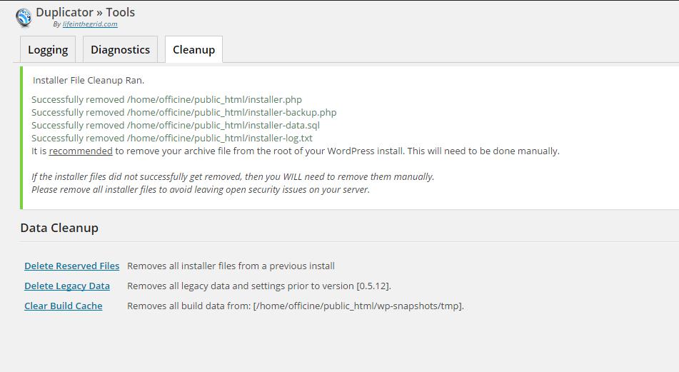 remove-file-installtion