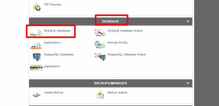 database-sezione