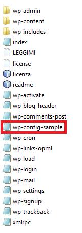 file-wordpress -wp-config-sample